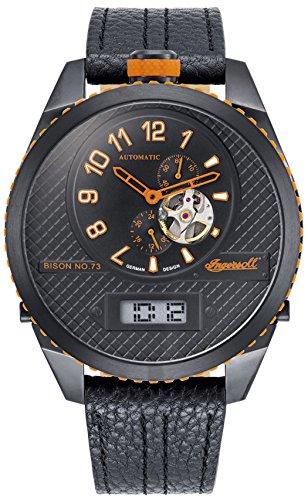 Ingersoll Herren Analog Automatik Uhr mit Leder Armband IN1716BBKO