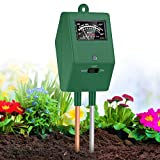 XDDIAS Testeur de Sol, 3 en 1 Testeur de pH-mètre de Sol d'Humidité Lumière Precision Test pour Fleurs Herbe Plante Jardin