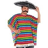 Fiesta Cinco De Mayo Striped Multicolored Fabric Serape   Party Costume
