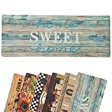 Farmhouse Themed Kitchen Mats 18 x 47 Inch, Anti-Fatigue Chef Mat Kitchen Rug Waterproof Foam Cushioned Floor Rugs, Sweet