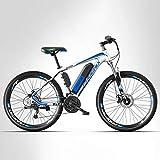 Adulte Montagne Vélo électrique Hommes, 27 Vitesses Hors Route vélo...