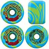 Santa Cruz Skateboard Wheels Slime Balls 60mm Vomits 97A Blue/Green Swirl