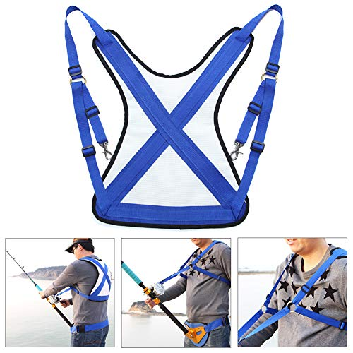 Fishing Shoulder Back Harness, Adjustable Sea Fishing Rod Holder, Offshore Stand Up Fishing Fighting...