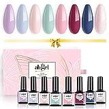 Juego de esmaltes de uñas de gel UV, colección de regalo de ángel, 8 colores, remojo de uñas, ...