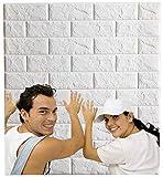 Arthome 10pièces Papier Peint 3D Brique Adhesif, 77cm x 69cm, Etanche Épais...