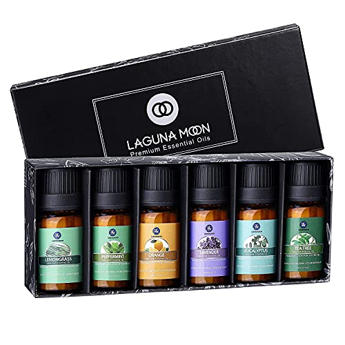 Lagunamoon Aceites Esenciales, Top 6 Set de Regalo de Aceite