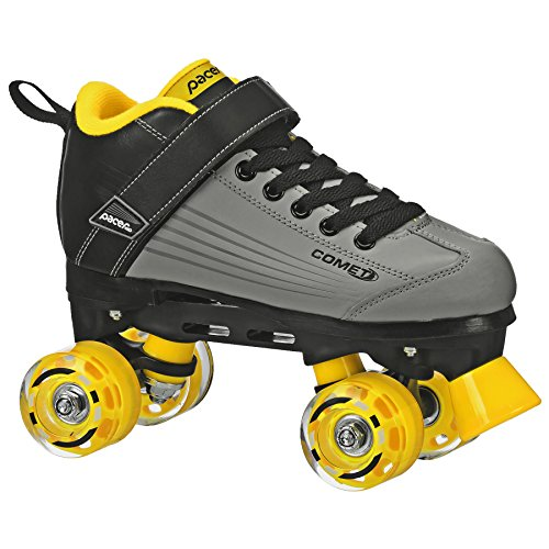 Pacer Comet Quad Kids Roller Skate, with Light Up Wheels, P973, Black sz 12J