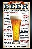 1art1 Bière Poster - Comment Commander Une Bière dans Le Monde Entier (91 x 61 cm)