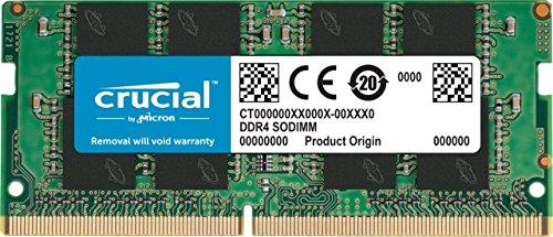 Crucial CT8G4SFS8266 8Go (DDR4, 2666 MT/s, PC4-21300, SR x8, SODIMM, 260-Pin) Mémoire