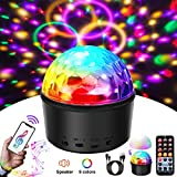 Disco Ball,SOLMORE 9 Colors Disco Lights Bluetooth Party Lights Sound Activated Party Lights with Remote Control DJ Lights MP3 Play&USB Wireless Connection for Kid Bedroom Bar Club KTV