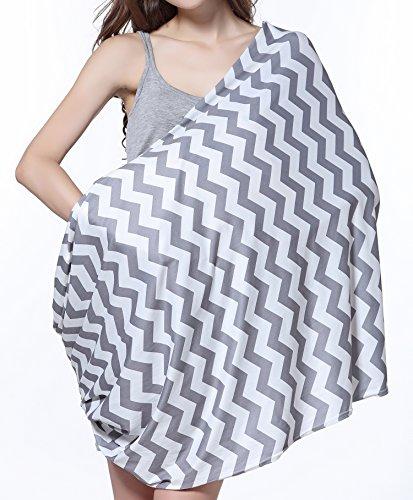 Photo de sweetbb-elastique-bande-gris-et-blanc-echarpe-de-portage-dallaitement-chiffon-nursing-cover-2-en-1-bandana-pour