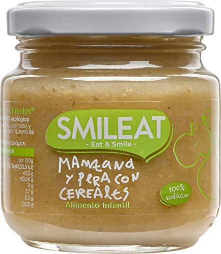 Smileat Tarrito de Manzana y Pera con Cereales - Paquete de