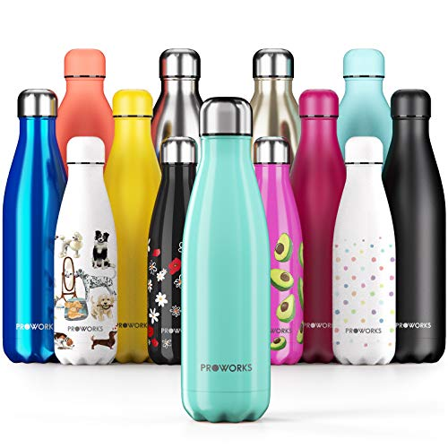 Botella de agua de acero inoxidable Proworks, sin BPA, térmicamente...
