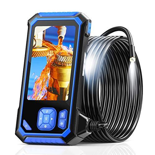 Endoscopio Per Tubi, Telecamera di Ispezione SKYBASIC, Endoscopio Industriale HD 1080P, Telecamera per Endoscopio, Funzione di Rotazione dell'Immagine a 360 °, Cavo Semirigido, SchedaTF da 32 GB (5 M)