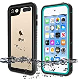 iPod Touch 7 Case, iPod Touch 6 Case, BESINPO Waterproof Case Full Body Built-in Screen Protector Shockproof Dustproof Anti-Scratch Case for iPod Touch 7th/6th/5th Generation - Blue