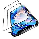 TORRAS 全面保護 iPhone 12 用ガラスフィルム iPhone 12 Pro 用ガラスフィルム 2枚セット ガイド枠付き ヘラ付き 日本製強化9Hガラス 2020年6.1インチ アイフォン12用 12Pro用保護フィルム