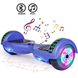 """FLYING-ANT Hoverboard UL 2272 Certified 6.5"""" Two-Wheel Bluetooth Self Balancing Electric Scooter with LED Light Flash Lights Wheels Blue (Free Carry Bag)"""