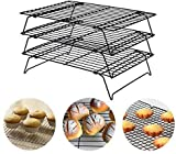 COLIBYOU 3-Tier Cooling Rack, Stackable Non-Stick Cross Grid Cookie Cooling Rack Baking Supplies for Bread Cake Biscuits and More