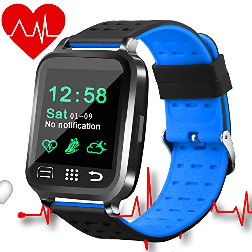 Smart Watch,Smartwatch for Android iOS ,Fitness Activity Tracker with Heart Rate Blood Pressure Monitor , Men Women Sport  Touch Wrist Watch Step,Calorie, Sleep Monitor Valentine's Day Birthday Gift