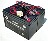 Razor 12 Volt 7Ah Electric Scooter Batteries High Performance - Set of 2 Includes New Wiring Harness