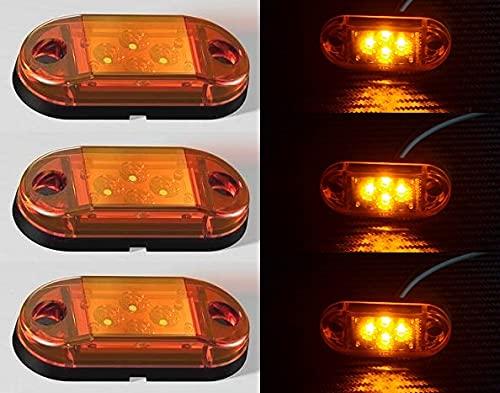 6 x 24 V LED arancioni luci laterali luci di posizione luci laterali lampade universali caravan camion camion