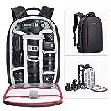 Beschoi Sac à dos étanche pour appareil photo reflex numérique Sony Canon Nikon...