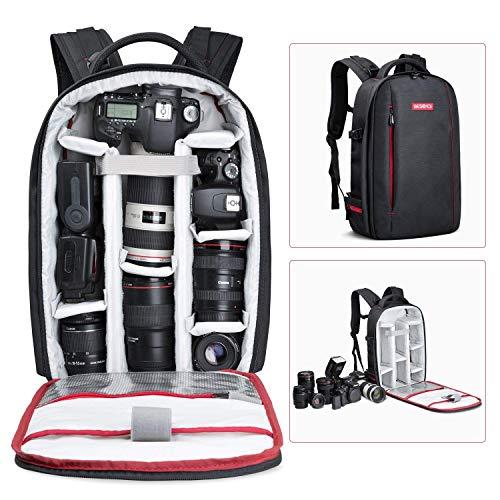 Beschoi Zaino per Fotocamera Professionale Zaino Macchina Fotografica Borsa Foto Impermeabile Porta Reflex Laptop Canon Nikon Treppiede Accessori, Taglia L