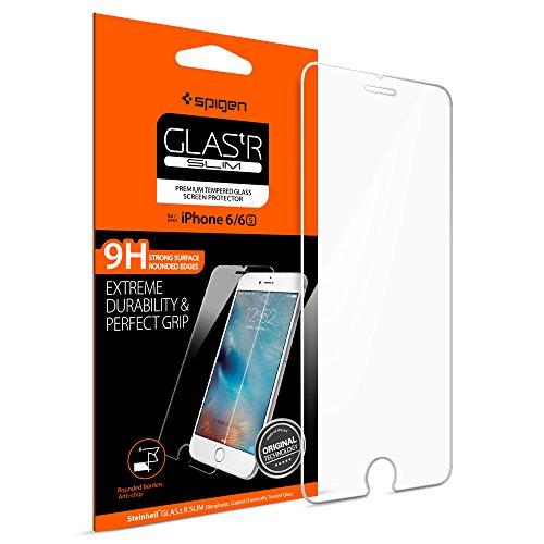 【Spigen】 iPhone6s ガラス フィルム, GLAS.tR SLIM  液晶保護 9H硬度 Rラウンド 加工  アイフォン6s / 6 用 (Glas.t R SLIM SGP11588) … SGP11588