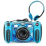 VTech Kidizoom Duo 5.0 Deluxe Digital Selfie Camera with MP3 Player & Headphones, Blue
