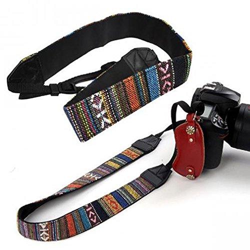 SODIAL(R) Vintage Camera Tracolla per DSLR Nikon Canon Sony Panasonic