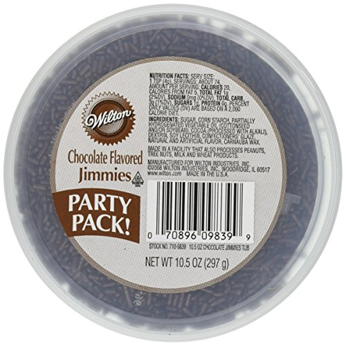 Wilton Chocolate Jimmies Tub Food Decorative, 10.5-Ounce