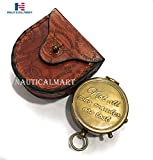 NauticalMart Boussole de Poche gravable « Not All Who...
