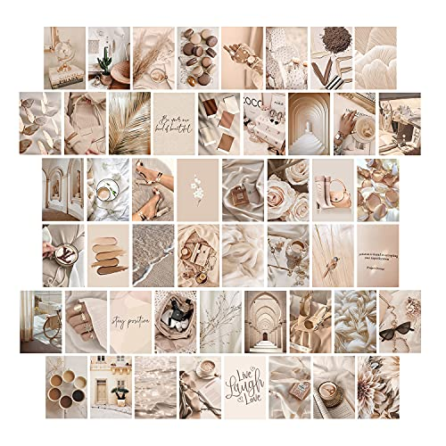 Beige Wall Collage Kit Aesthetic Pictures, Room Decor Aesthetic,...