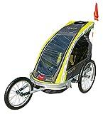Alek...Shop Multi-Function 2 in 1 Child Trailer Toddler Seat Bike Carrier 3 Wheel, Travel Gear Child Bike Trailer Kids w/Canopy Rainproof Transparent Cover Basket Storage, Jogger Bicycle