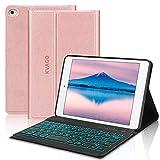 Kvago Étui de clavier rétroéclairé pour iPad Mini 1/2/3/4/5 avec support...