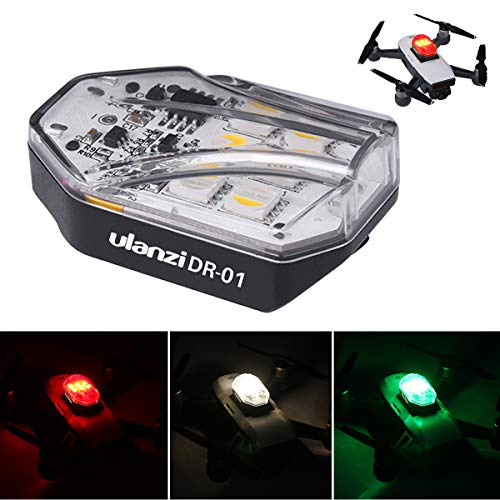 Ulanzi DR-01 Drone Flash LED Light 3 colori per DJI Drone, la maggior parte dei droni Accessori per...