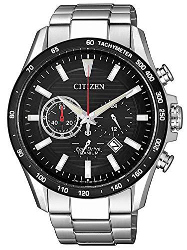 CITIZEN Herren Analog Eco-Drive Uhr mit Super Titanium Armband CA4444-82E