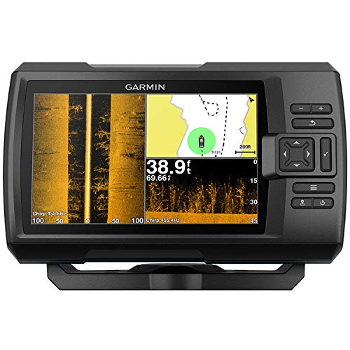 Garmin 0100187402Striker Plus, 7SVFishfinder, con Supporto Chirp