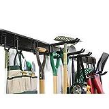 Ultrawall Rack, 12PCS Wall Mount Tools Home Storage System, Adjustable Heavy Duty Steel Garage Organization(9 Hooks, 3 Rails)