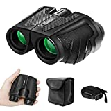 Awosai 12x25 Compact Binoculars with Low Light Night Vision for Adults, Small Mini Pocket Folding Waterproof Porro Binoculars with BAK4 FMC Lens for Watching Bird, Competition, Theater, Hiking
