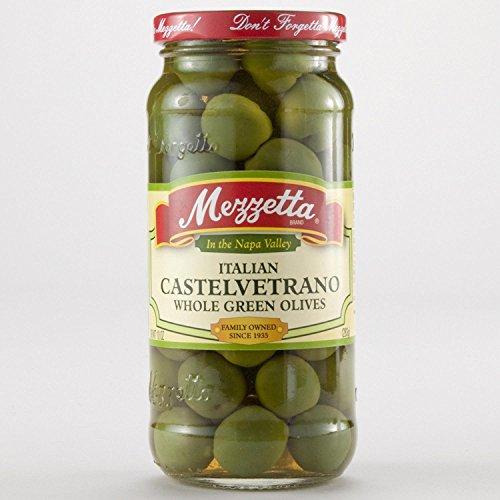 Mezzetta Italian Castelvetrano Whole Green Olives -- 10 oz - 2 pc