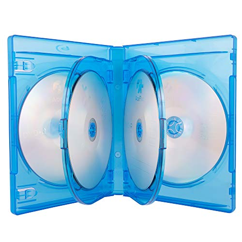 AcePlus 10 Pieces Empty 22mm Thick 6 Disc Capacity Blu-Ray case Screen Printed Logo