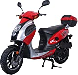 X-Pro 150cc Moped Scooter Motorcycle Scooter 150 Adult Scooter Gas Moped Scooter (Red)