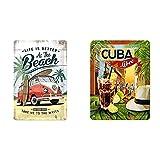 Nostalgic-Art 22277 Plaque Vintage Volkswagen – Bulli T1, 20 x 30 cm & 26143 Plaque Vintage Cuba Libre – Idée de Cadeau comme Accessoire de Bar, en métal, Design Retro pour la décoration, 15 x 20 cm
