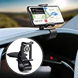 JunDa Car Phone Holder 360-Degree Rotation Cell Phone Holder Suitable for 4 to 7 inch Smartphones,Rotating Dashboard Clip Mount Stand