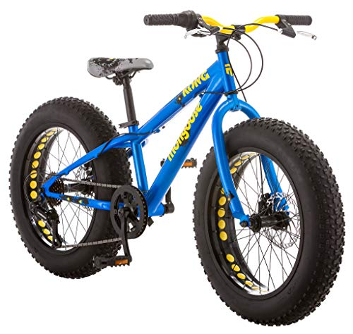Mongoose Kong Fat Tire Mountain Bike for Kids, 20-Inch Wheels, Blue