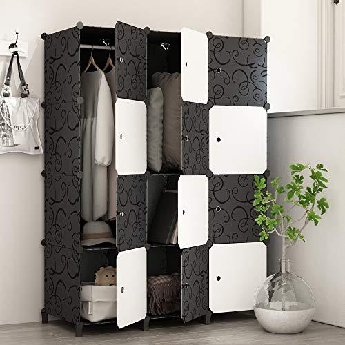 PREMAG Armadio Portatile per Appendere i Vestiti, stanzino Combinato, ripostiglio modulare per Risparmio di Spazio, Cubo Ideale per l'immagazzinamento di Oggetti per Libri 12-Cubo