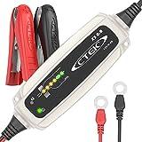 CTEK XS 0.8 Mainteneur en charge de batteries automatique (Pour le maintien en charge de batteries de moto et autres batteries de véhicules de peitite capacité) 12V, 0.8 Amp - Prise EU