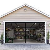 Double Garage Screen Door 16x7FT - Fit 2 Car Garage Door,Breathable Fiberglass Garage Screen Cover Kit,38 High Energy Magnets&Weighted Bottom Stronger 2240g(5LB)