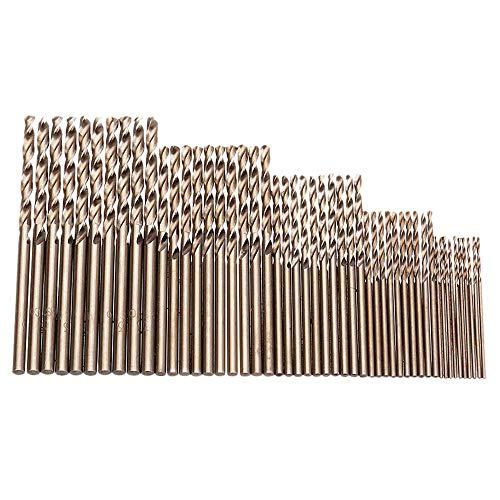 Juego De 50 Brocas De Cobalto Bobotron M35, Fuerza De Perforación, 1-3 Mm, Para Taladrar, Metales Endurecidosacero Inoxidable Y Hierro Fundido.